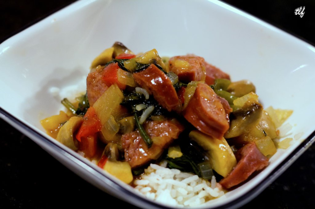 Sweet and Sour Turkey Kielbasa